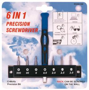 6 IN 1 PRECISION BIT SET W/RACK