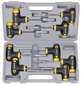 9PCS T-HANDLE NUT-DRIVER SET
